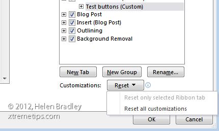 resetting ribbon settings