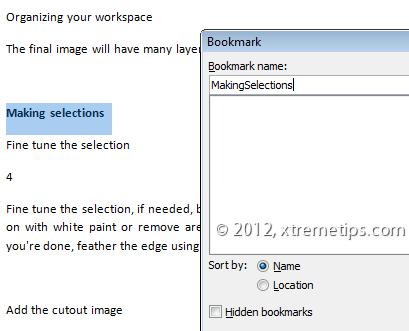 hyperlinks in documents