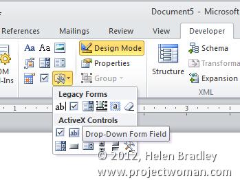 word legacy controls