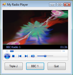 visual basic radio player